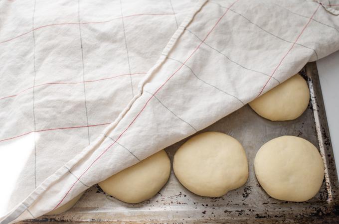 The risen buns.