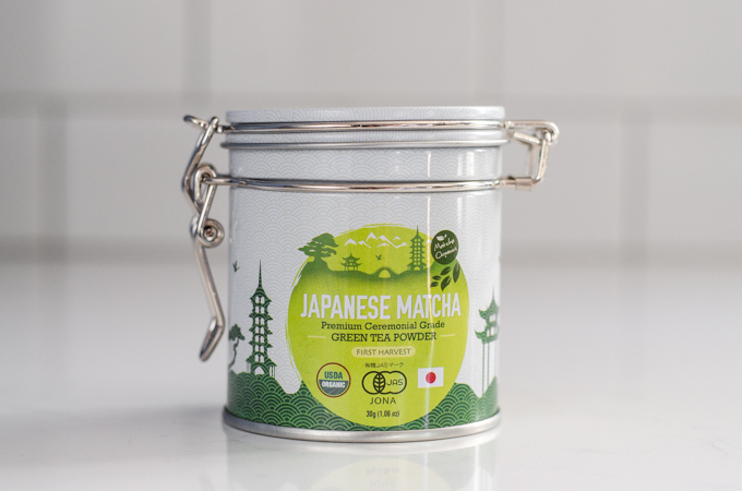 Kiss Me Organics Japanese matcha powder.