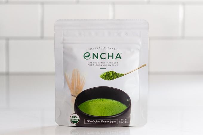 Encha ceremonial green tea powder.