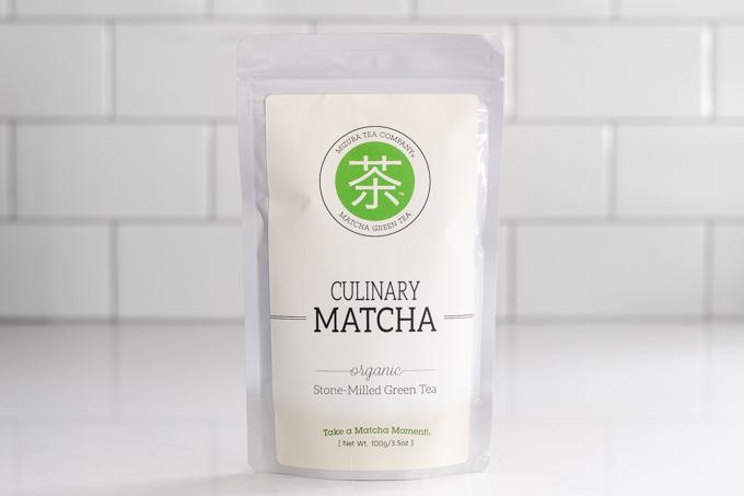 Mizuba culinary grade green tea powder.